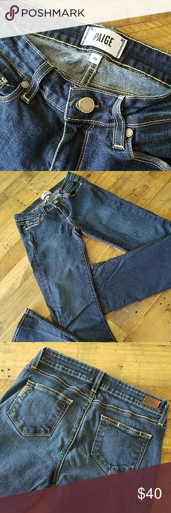 Paige Premium Denim Manhattan Jeans Paige Premium Denim Manhattan Jeans size 26. These are a baby bootcut in slightly stretchy material.  Gently used. PAIGE Jeans