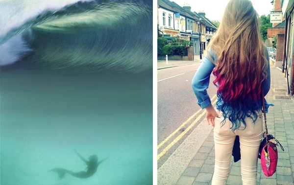 Mermaid, gypsy style, color hair, #rocking