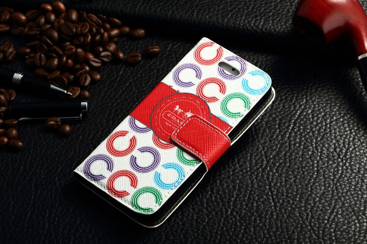 Coach iPhone 7 Book Wallet Cases Red