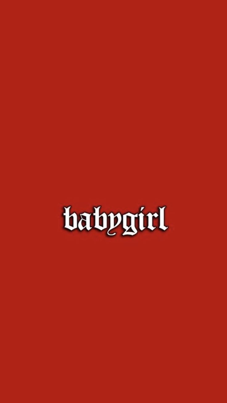 babygirl red iPhone wallpaper Bad girl wallpaper, Mood