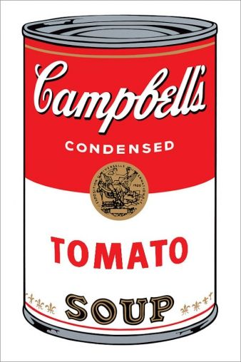Andy Warhol, Campbells Soup Tomato, Sunday B. Morning