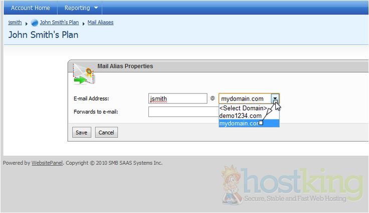 How to setup email forwarding in WebsitePanel