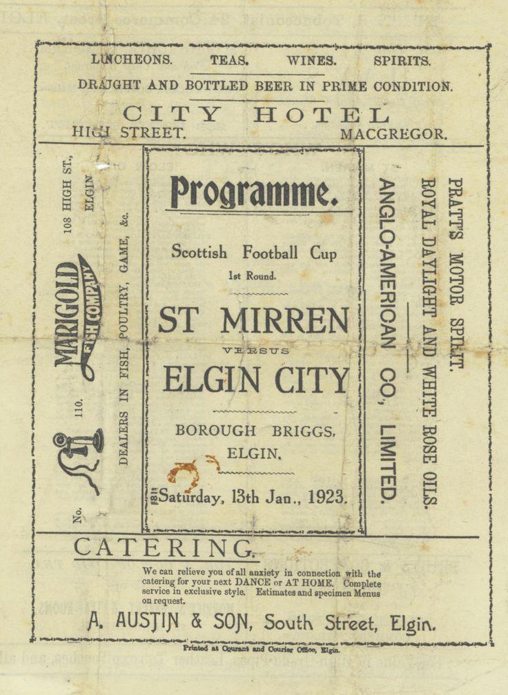 Elgin C. v St. Mirren 1923