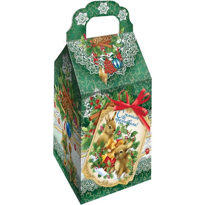 Новогодняя упаковка из плотного картона