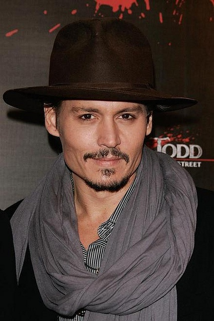 "Actor Johnny Depp poses as he attends the ""Sweeney Todd"" premier by pivot.samer, via Flickr"