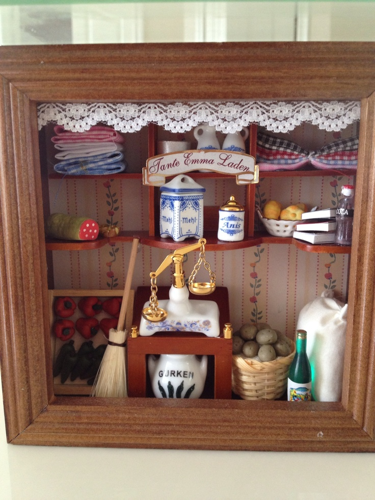 Kitchen Diorama Made Of Cereal Box: Reutter Original Germany