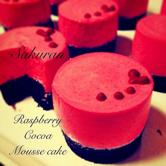 ラズベリームースケーキ♡