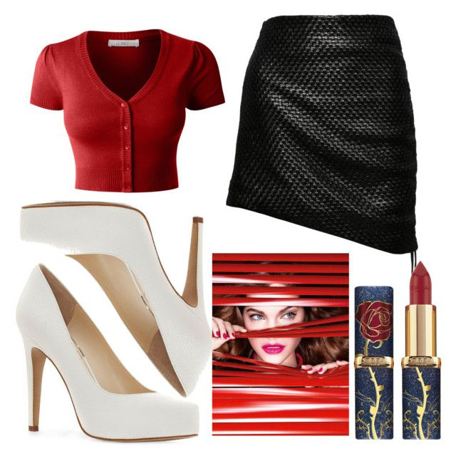 """Middle aged spy"" by grunturtle ❤ liked on Polyvore featuring LE3NO, Magda Butrym, Jessica Simpson and L'Oréal Paris"