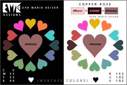 "Eva Maria Keiser Designs: Explore Color:  ""Copper Rose""  (Websafe Color)"