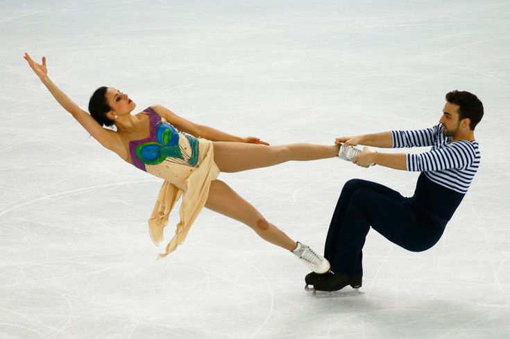 9 jaw-dropping photos that will make you believe in ice dancing - The Week - Spain: Sara Hurtado and Adria Diaz. | (REUTERS/Marko Djurica)
