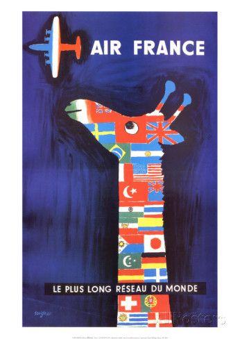 オールポスターズの レイモン・サヴィニャック「エールフランス」アート