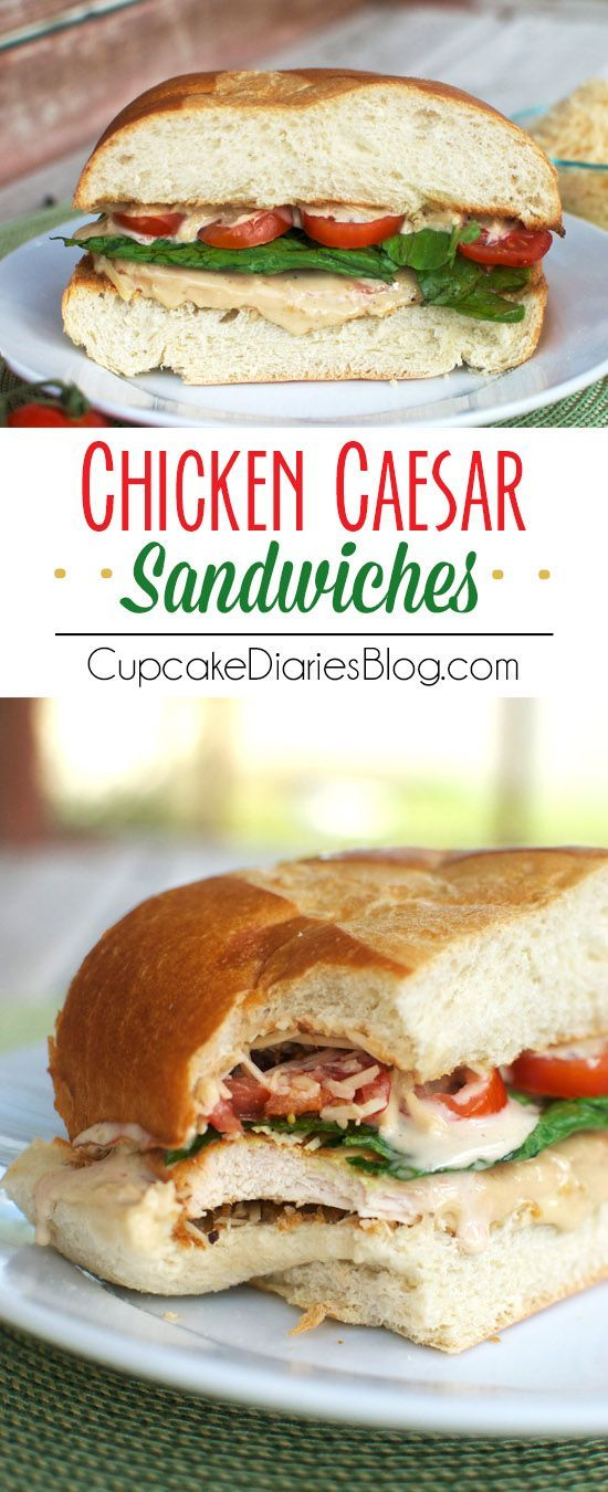 What a great idea! I love caesar dressing too. Tasty chicken recipes like this make a fabulous lunch sandwich.