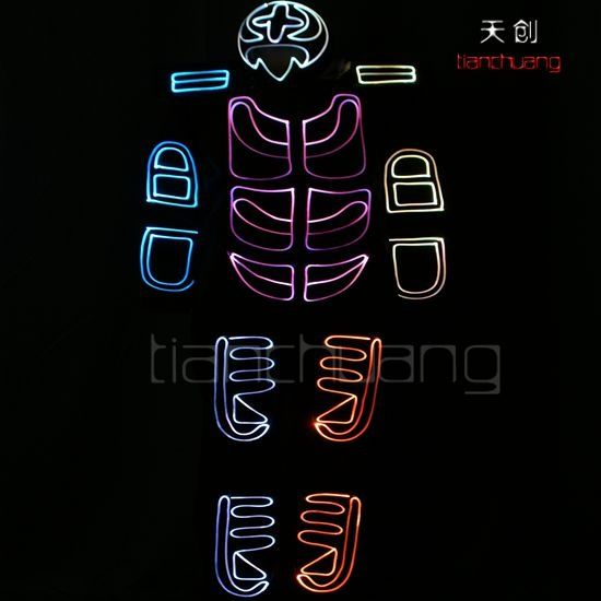 tianchuang DMX512 controlled fullcolor fiber optic costumes