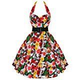 Hell Bunny Mexico 50's Calavera Day of the Dead Sugar Skull Dress (Medium)