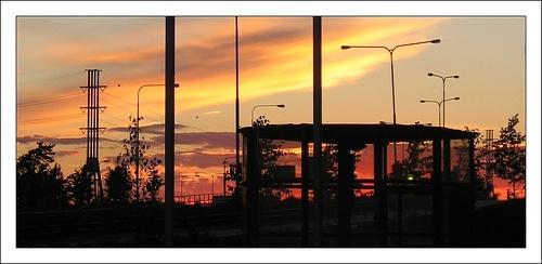 Sunset on Länsiväylä, via Flickr