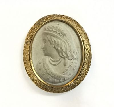Queen Victoria captured in lava stone.  #cameo #queenvictoria #lavastone