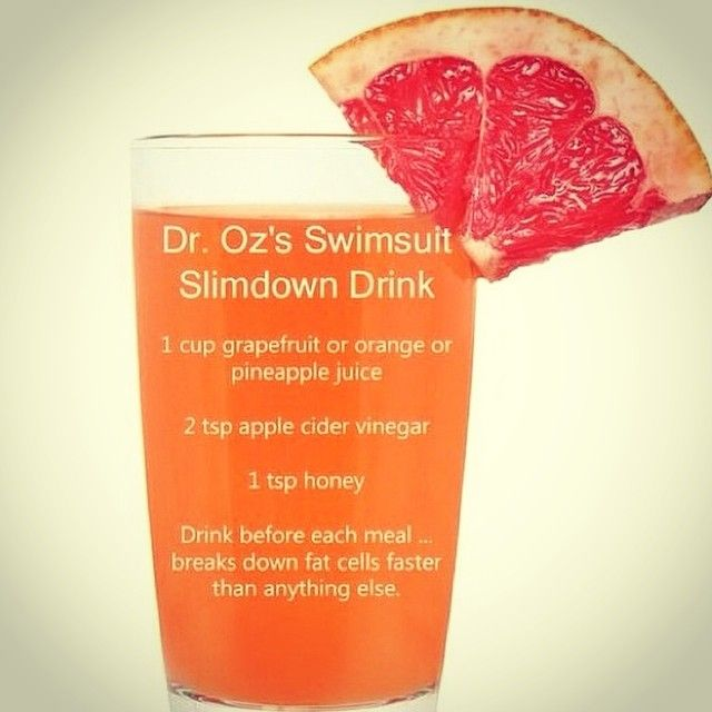 Dr. Oz's Slim Down drink #fatflush #weightloss #droz
