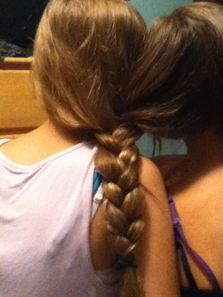 Braided My Bffs Hair Together Hair Pinterest Bffs