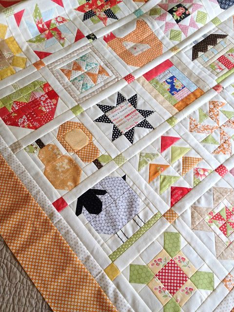 Farm Girl Vintage Sampler Quilt Top