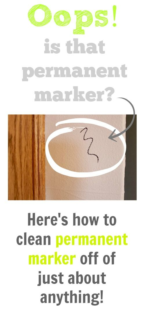 how to get marker off the wall