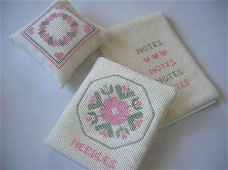 Gorgeous crossstiched Sewing Accessories. Perfect gift for the sewing crafter in your life.