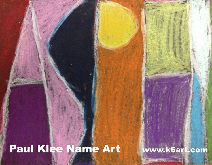 Paul Klee Name Art