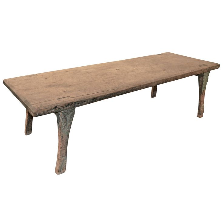 Antique Bench or Coffee Table Made from a Single Teak Slab 1