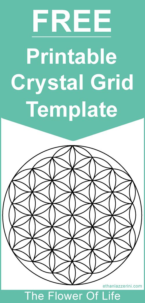 The Free Printable Crystal Grid Template Flower Of Life Crystals Sacredgeometry