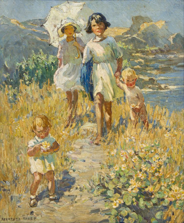 Dorothea Sharp, (British 1874-1955) | The Cliff Path