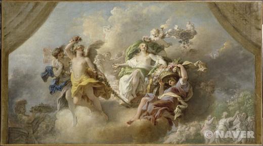 앙투안 프랑수아 칼레 '플로라의 승리' 18세기경 루브르 박물관