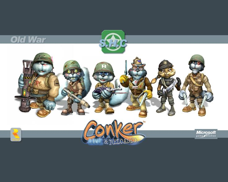 the Squirrel High Command (Old War version) from Conker: Live and Reloaded. official wallpaper.