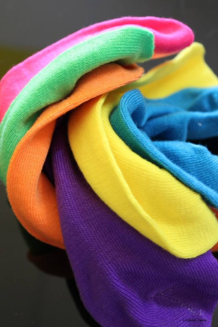 cardigans in colors of the rainbow
