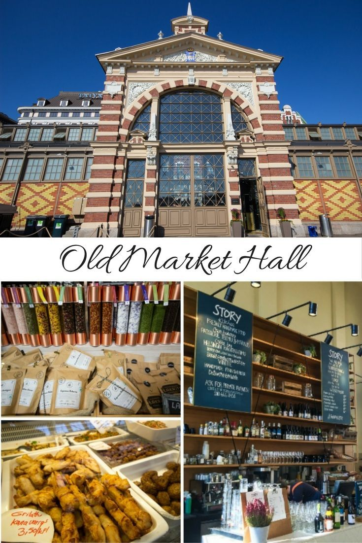 Old Market Hall in Helsinki, Finland is a fantastic spot to stop for lunch.