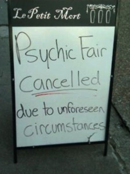 Is It Friday yet Jokes | Friday Joke: Time for Psychic Root Cause Analysis? Whats also funny is the name of the place... La petit mort, means the little death, which is referring to an orgasm.