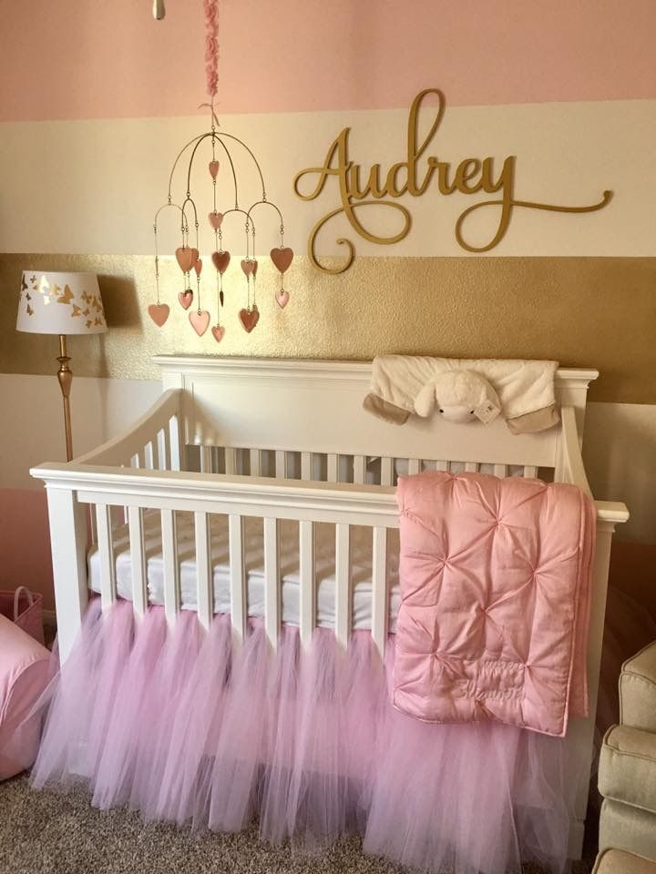 Pink and Gold Baby Girl's Nursery