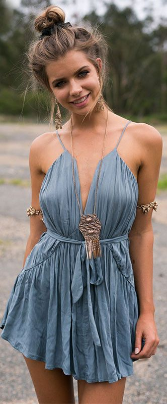 Bohemian chic minidress