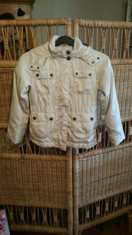 Blouson/ manteau à capuche crème