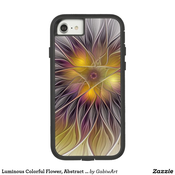 Luminous Colorful Flower, Abstract Modern Fractal Case-Mate Tough Extreme iPhone 7 Case