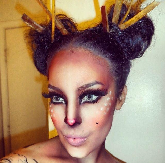 Cute little deer costume makeup