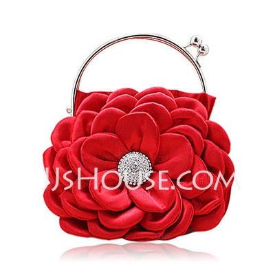 Carteras - $27.99 - (Rojo) satinado con el brillo de diamantes de imitación bolsa de fiesta / garras / bolsas de Top Mango (012013560) http://jjshouse.com/es/Rojo-Satinado-Con-El-Brillo-De-Diamantes-De-Imitacion-Bolsa-De-Fiesta-Garras-Bolsas-De-Top-Mango-012013560-g13560