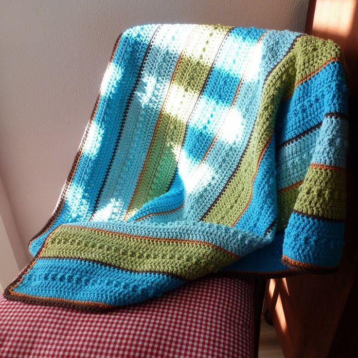 Karin aan de haak! Babydekentje - patroon in het Nederlands -Baby Blanket