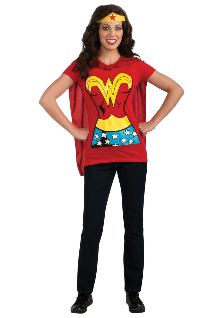 Adult+Superhero+Costumes | ... Superhero T-Shirt Costume - Superhero Costumes, Wonder Woman Costumes