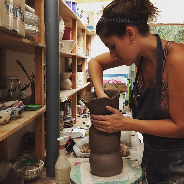 En el taller #ceramica #ceramics #objetosmuk