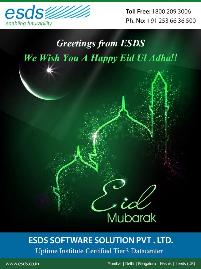Greetings from ESDS! We Wish You All a Very Happy Eid Ul Adha!