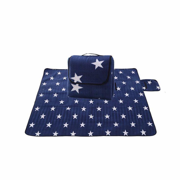 1.3*1.7m Foldable Outdoor Camping Mat Pad Picnic Mat Pad Blanket Baby Climb Plaid Blanket Waterproof Beach Blanket Mat