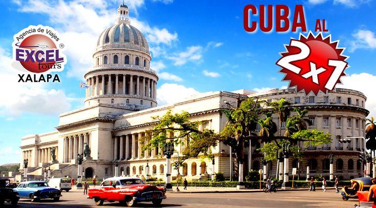 Regresa la promoción Cuba al 2×1-Viajan 2 y paga solamente uno-,Aprovecha y VIAJA YA! Vigencia: Para viajar hasta el 10 de JULIO del2016 SOLICITA INFORMACIÓN DE HOTELES PARTICIPANTESy no t…