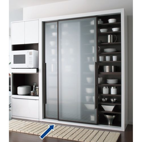 Calmo カルモ ソフトクロージングキッチンボード 引き戸 幅160cm 家具収納・インテリア雑貨専門 通販のハウススタイリング(house styling)