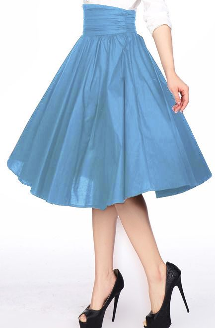 1950s High Ruched Waist Skirt by Amber Middaugh