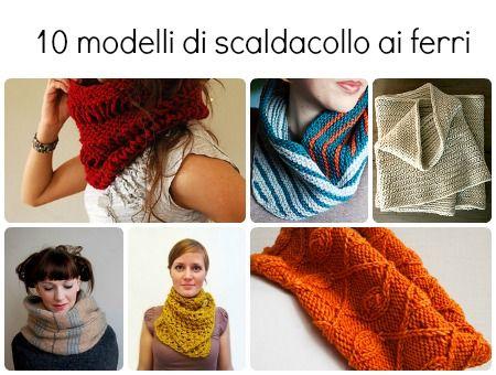 10 Modelli di sciarpe, colli e scialli | diLanaedaltrestorie