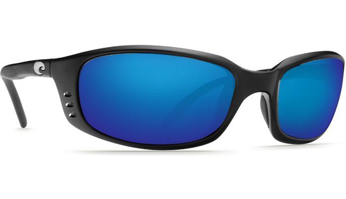 Costa Del Mar Brine 580G Black/Blue Mirror Polarized Sunglasses